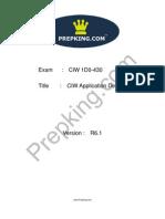 Prepking 1D0-430 Exam Questions