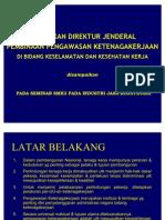 Kebijakan Dirjen SMK3 Konstruksi