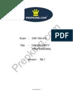 Prepking 1D0-470 Exam Questions