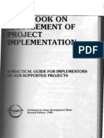 Handbook on Management of Project Implementation