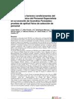 Estudio de los factores condicionantes del rendimiento físico del Personal Especialista en la extinción de incendios forestales