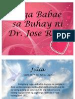 Mga Babae Sa Buhay Ni Rizal