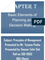 Chapter7 Basic Elements of Planning and Decision Making