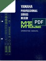 Yamaha M1532E manual