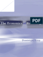 Economics of Knowledge