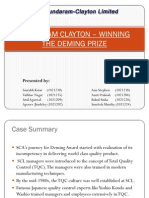 SUNDARAM CLAYTON – WINNING THE DEMING PRIZE