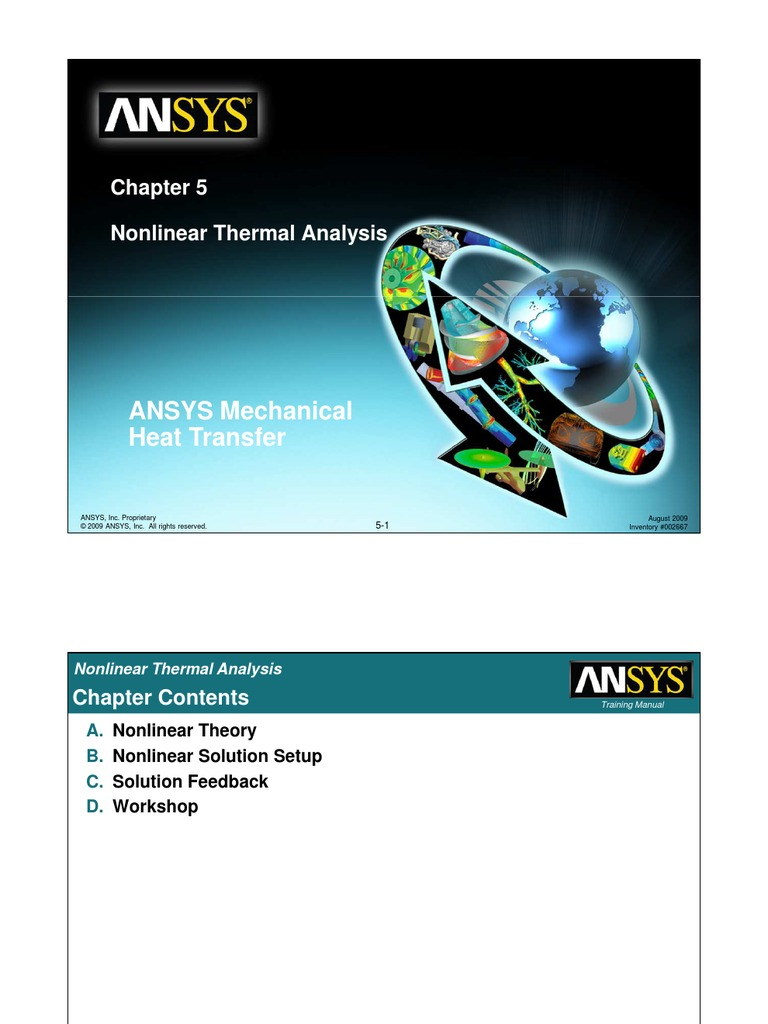 mech ht 120 lect 05 nonlinear nonlinear system heat rh scribd com ANSYS LS-DYNA Introduction to Mechanical ANSYS