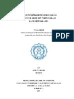 Sistem Informasi Inventaris Barang