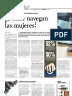 ¿Dónde navegan las mujeres? - La Nación -  06.08.2010