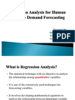 Regression Analysis for Human Resource Demand Forecasting