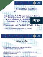 Estabilidade Oxidativa de Biodiesel de Milho