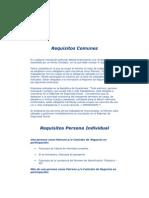 Requisitos Comunes Inscripcion Igss