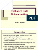 Theories of Foreign Exchange Determination