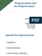 Women's Empowerment and Agenda for Empowerment