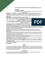 Acuerdos Argentina - Peru