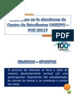 ¿Que paso en la eleccion de centro de estudiantes UNEXPO 2011?