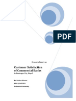 Research on Customer Satisfaction of commercial banks