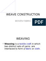 Plain weave construction and fabric