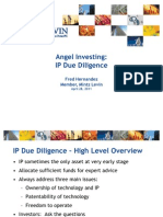 IP Due Diligence for Angel Investors