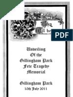 Gillingham Park Fete Tragedy Official Program of the 2011 Unveiling, Public copy