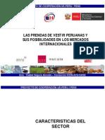 Las Confecciones Peruanas y Los Mercados Internacionales