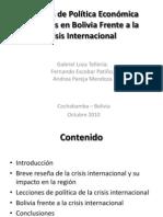 Medidas Aplicadas y Result a Dos. Bolivia y Mas