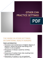 Other Chn Practice Settings