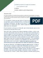 REELECCION NO. Comentarios a Propuesta de F. Calderon Sobre Reeleccion