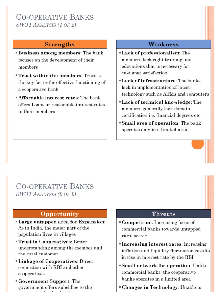swot analysis of state co operative bank