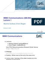 MIMO Communications Lecture1