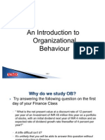 OB1 Section 1 Organizational Behavior