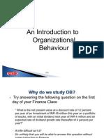 OB1 Section 1 Organizational Behavior