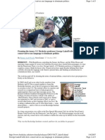 George Lakoff - Framing the Issue - How Conservatives Use Language to Dominate Politics 2003.10.27