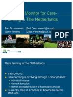 Economic Monitoring for Care Farming in the Netherlands