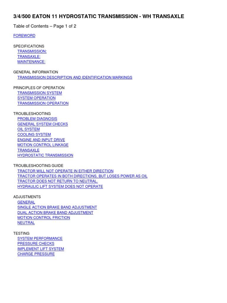 Eaton Complete Transaxle Repair Guide - Ea11wh | Manual Transmission