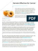 Apricot Seed Kernels Effective for Cancer