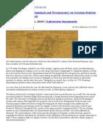 The Influence of the Illuminati and Freemasonry on German Student Orders