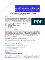 Invitation to 17th Forum of Burmese in Europe[1]