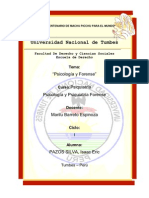Investigación de la Psicologia y Psiquiatria Forense