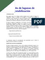 DISEÑO LAGUNAS DE ESTABILIZACION
