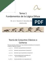 Tema 1 Fundamentos de la Lógica Difusa