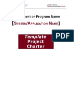 TEMPLATE Project Charter