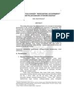 Implementasi Konsep Re Vein Ting Government