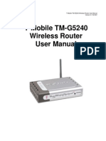 D-Link T-Mobile TM-G5240 Wireless Router User Manual