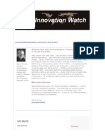Innovation Watch Newsletter 10.15 - July 16, 2011