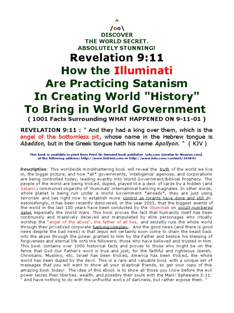Revelation 911 ebook about use of illuminati new world order occult revelation 911 ebook about use of illuminati new world order occult numerology in creating history new world order conspiracy theory devil fandeluxe Choice Image