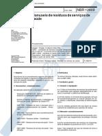 NBR 12809 - 1993 - Manuseio de Residuos de Servico de Saude