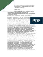 DO ESVAZIAMENTO ONTOLÓGICO DE DEUS À DISSOLUÇÃO DO CRISTIANISMO ENQUANTO MORALIDADE