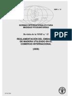Norma Internacional de Medidas Fitosanitarias NIMF No. 15