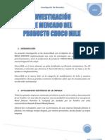 INVESTIGACIÓN DE MERCADO DEL PRODUCTO CHOCO MILK